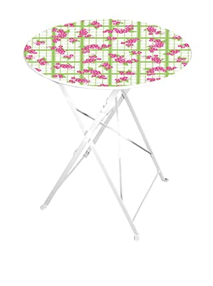 Esschert Design Tea Towel/Flower-Print Bistro Table, Multi