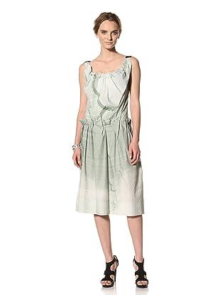 MARNI Women's Abstract Print Gathered Tank Dress (Beige Multi)