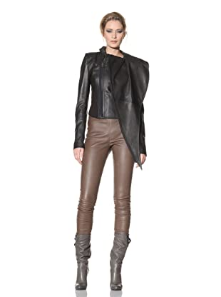 Haider Ackermann Women's Mixed Media Leather Jacket (Anthracite/Judd)