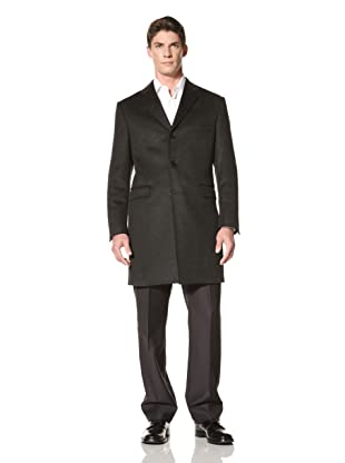 Yves Saint Laurent Men's Overcoat (Grey Melange)