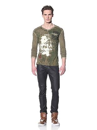 Just Cavalli Men's Pocket Long Sleeve T-Shirt (Grey)
