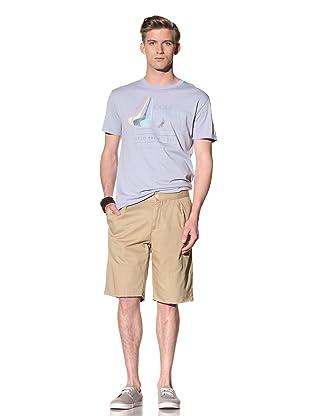 Riviera Club Men's Cut-Off Pleat Shorts (Khaki)