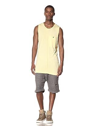 B: Scott Men's Long Tank with Pocket (Pale Yellow)