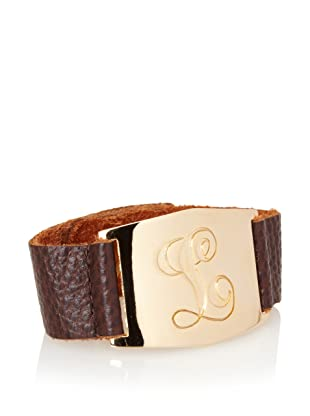 Lisa Stewart Gold L Initial Cuff Bracelet
