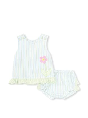 Bebe Mignon Baby Flower Dress and Bloomers (Beach)