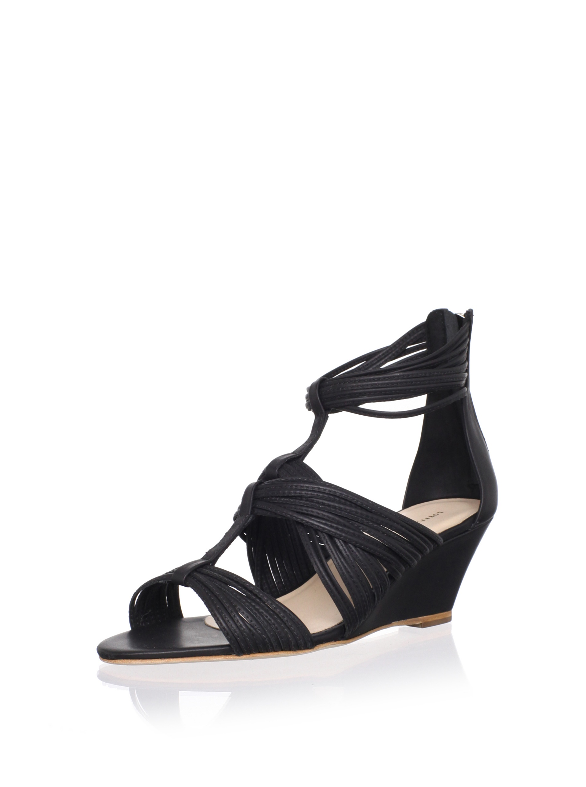 Loeffler Randall Women's Anja Wedge Sandal (Black)