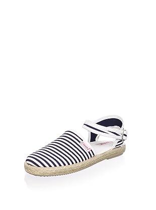 Cienta Kid's Ankle Strap Espadrille (Navy)