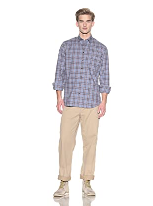 Toscano Men's Long Sleeve Flannel Check Shirt (Linea)