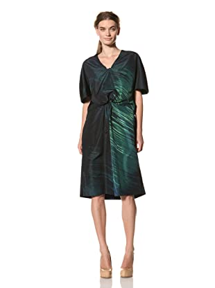 MARNI Women's Abstract Print Gathered Front Dress (Dark Green)
