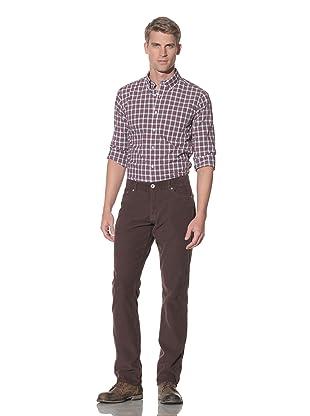 Benson Men's Berkeley Retro Corduroy Pants (Brown)