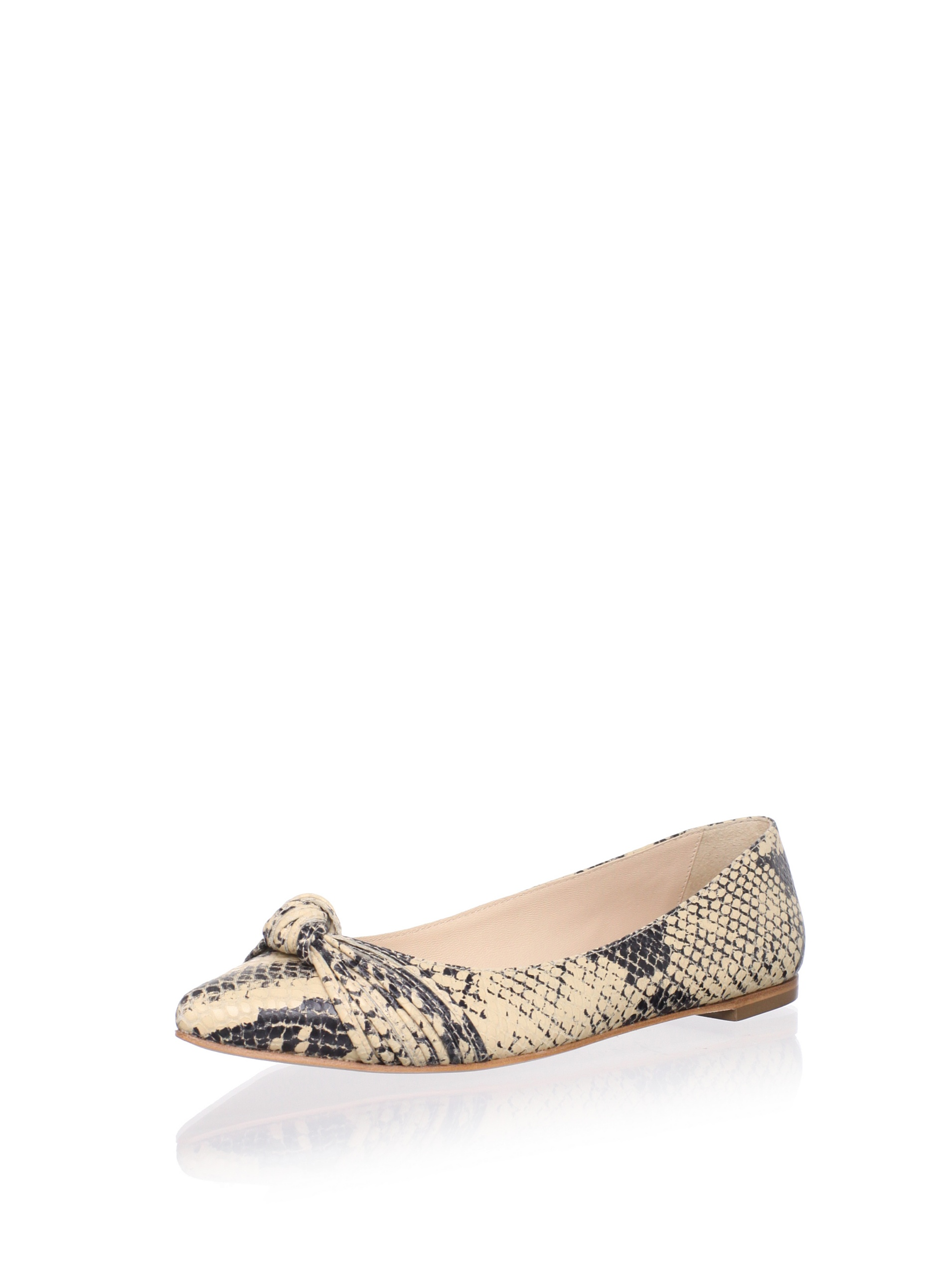 Loeffler Randall Women's Willow Flat (Natural/Snake)