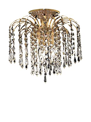 Crystal Lighting Falls Flush Mount Ceiling Fixture (Gold and Crystal)