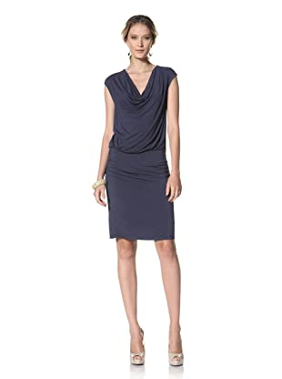 Kenneth Cole Women's Cowl Neck Knit Dress (Navy Seal)