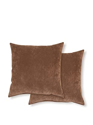 Dakota Set of 2 Cosmo Pillows (Chocolate)