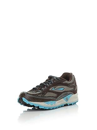 Brooks Women's Cascadia 5 Trail Running Shoe (Laurel/River Blue/Java)