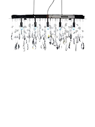 Crystal Lighting Crystal Chandelier, Chrome