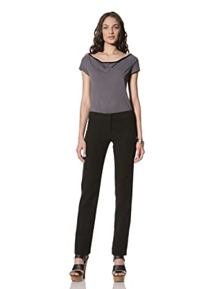 Billy Reid Women's Slim Cotton Pant (Black)