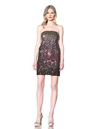 Julie Brown Women's Nell Strapless Dress with Ombre Sequins (Purple)