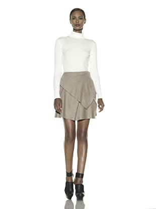 Costume National Women's Asymmetrical Layer Skirt (Tan)
