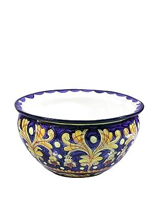 NOVICA Ceramic Flower Pot, Luxurious Blue
