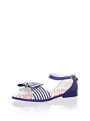 Pampili Kid's Striped Sandal with Bow (Navy)