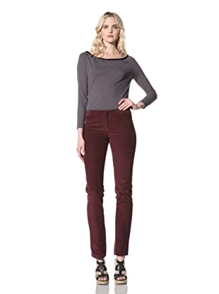 Billy Reid Women's Slim Corduroy Pant (Wine)