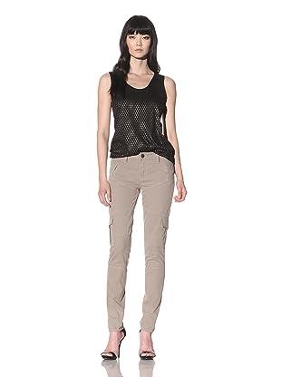 Dylan George Women's Eva Skinny Twill Cargo Pant (Tan)