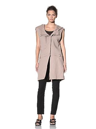 Haider Ackermann Women's Hooded Sleeveless Coat (Sand)