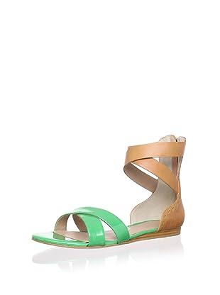 Pour La Victoire Women's Fabia Sandal (Kelly Green Patent)