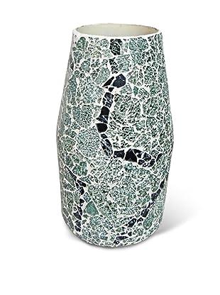 Global Pickings Green Mint Contour Mosaic Vase (Green Mint/Multi)
