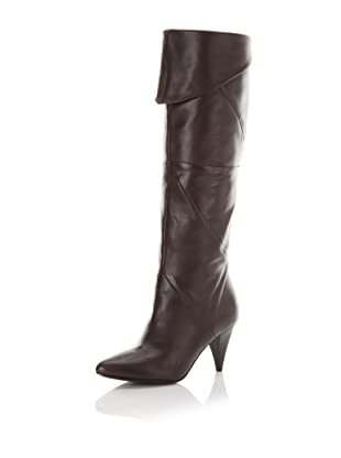 Belle by Sigerson Morrison Women's 6615 Knee-High Boot (Dark Brown Leather)