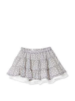 TroiZenfants Girl's Tiered Skirt (Grey Stars)