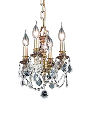 Crystal Lighting Lillie 4-Light Mini Chandelier (French Gold/Crystal)