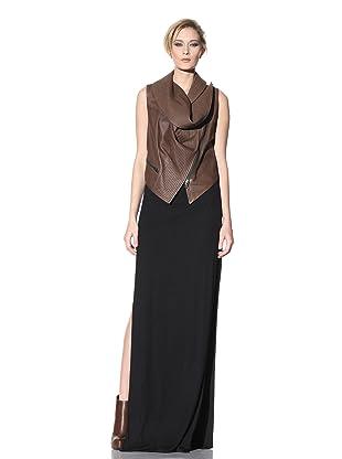Haider Ackermann Women's Cowl Neck Leather Vest (Tobacco)