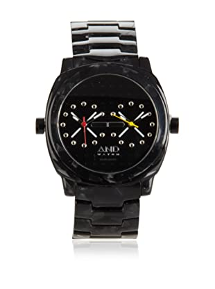 AND Watch Unisex Socrates Black Cellulose Acetate Time Zone Watch