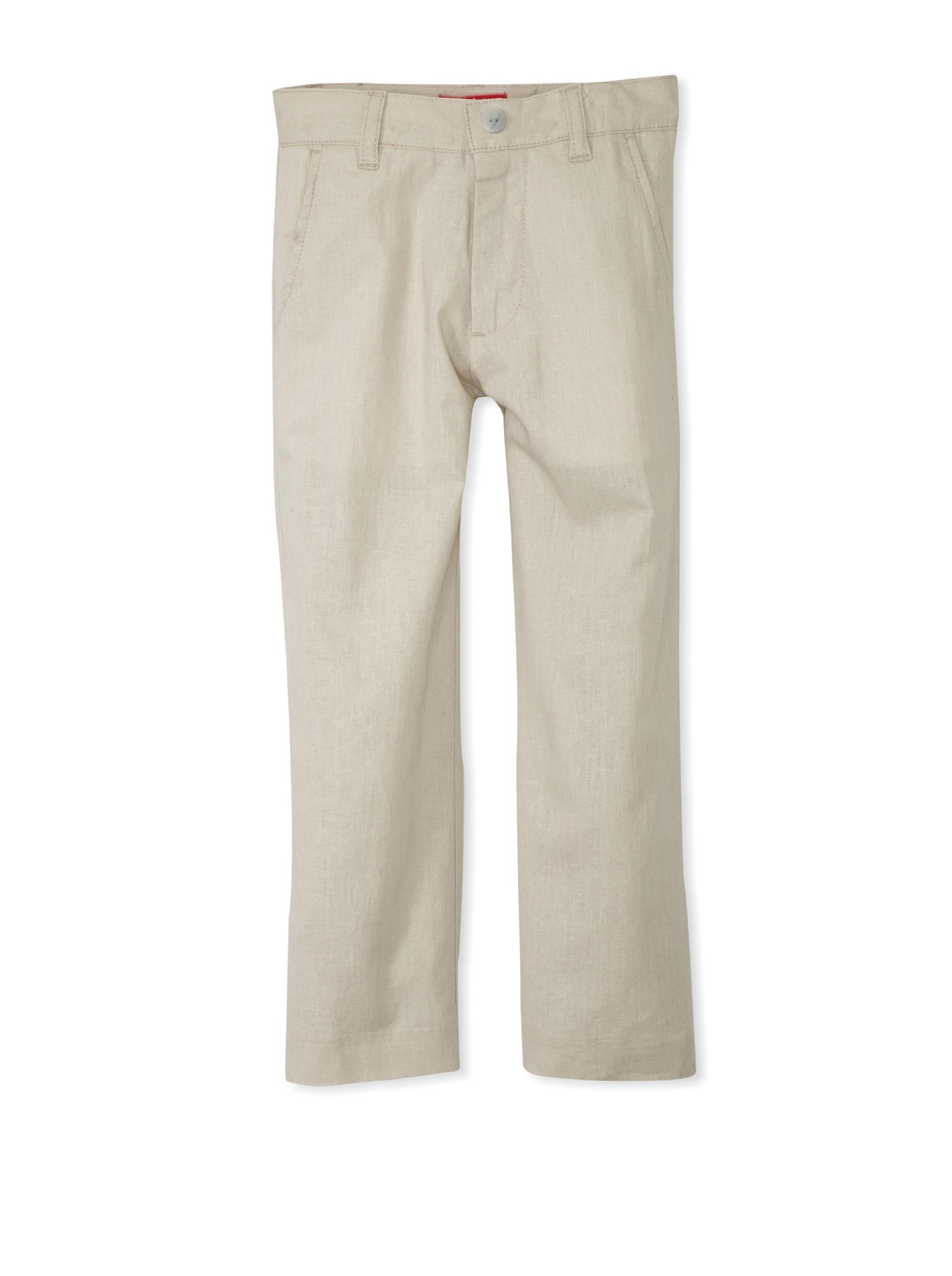 One Kid Boy's Flat-Front Pants (Sand)