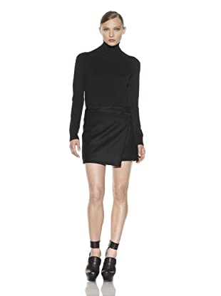 Costume National Women's Asymmetrical Mini Skirt (Black)