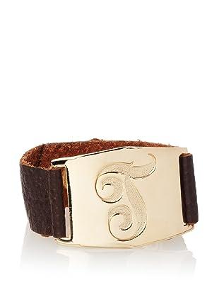 Lisa Stewart Gold T Initial Cuff Bracelet
