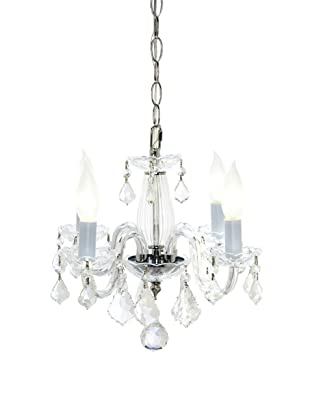 Crystal Lighting Rococo Chandelier, Chrome