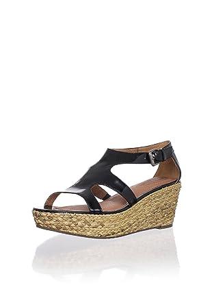 Corso Como Women's Parable Wedge Sandal (Black Patent)