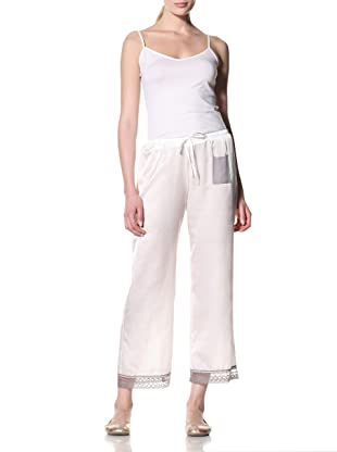 Toute la Nuit Women's Drawstring Pants (Ivory/Grey)