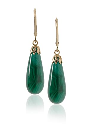 JEWELMAK Malachite Teardrop Earrings