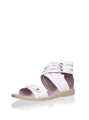 Billowy Kid's Triple Strap Sandal (White)