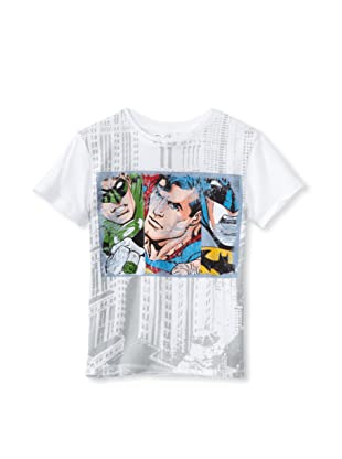 Kid's Republic Boy's High Fly Justice League T-Shirt (White)