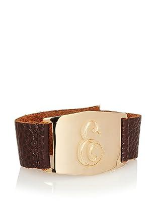 Lisa Stewart Gold E Initial Cuff Bracelet