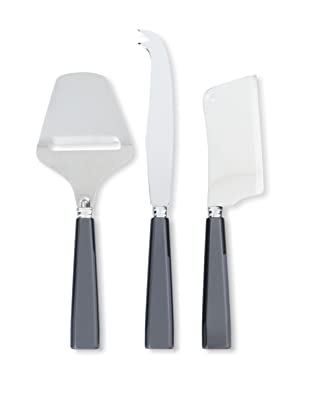 Sabre Natura 3-Piece Cheese Set, Dark Grey
