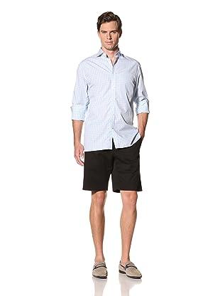 Bobby Jones Men's Check Spread Collar Shirt (Raindrop)