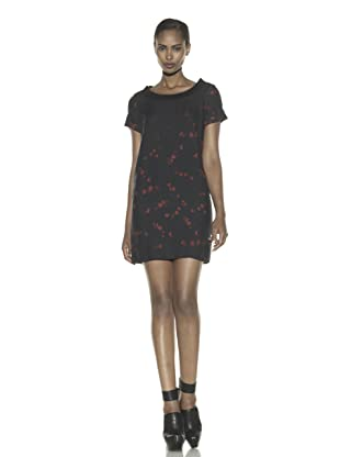 Costume National Women's Floral Print Wool Dress (Black/Red)