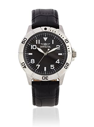Invicta Men's 11427 Specialty Black Dial Black Leather Watch