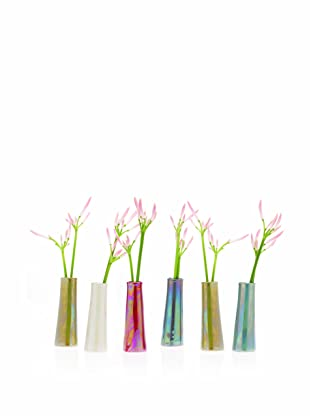 Chive Set of 6 Galaxy Vases, Sage/Ginger/Blue/Pearl/Metal